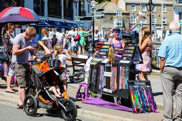 Padstow on a busy summers day in July 2020